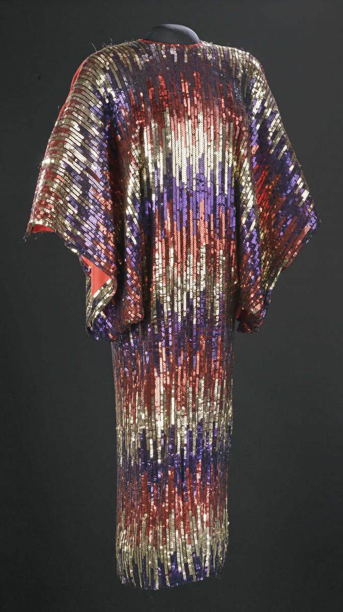 Dress worn by Celia Cruz, 1970s, Collection of the Smithsonian National Museum of African American History and Culture, Gift of the Celia Cruz Knight Estate