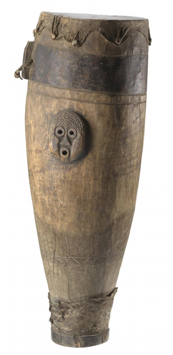 Wooden drum used on the Sea Islands, South Carolina, 19th Century, Collection of the Smithsonian National Museum of African American History and Culture