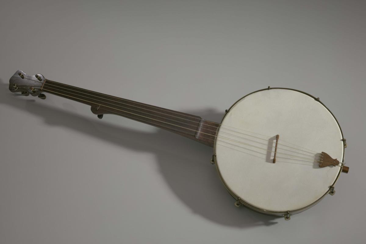 Banjo made in the style of William Esperance Boucher, Jr., ca. 1850s, Collection of the Smithsonian National Museum of African American History and Culture, Gift of Robert Bockee Winans