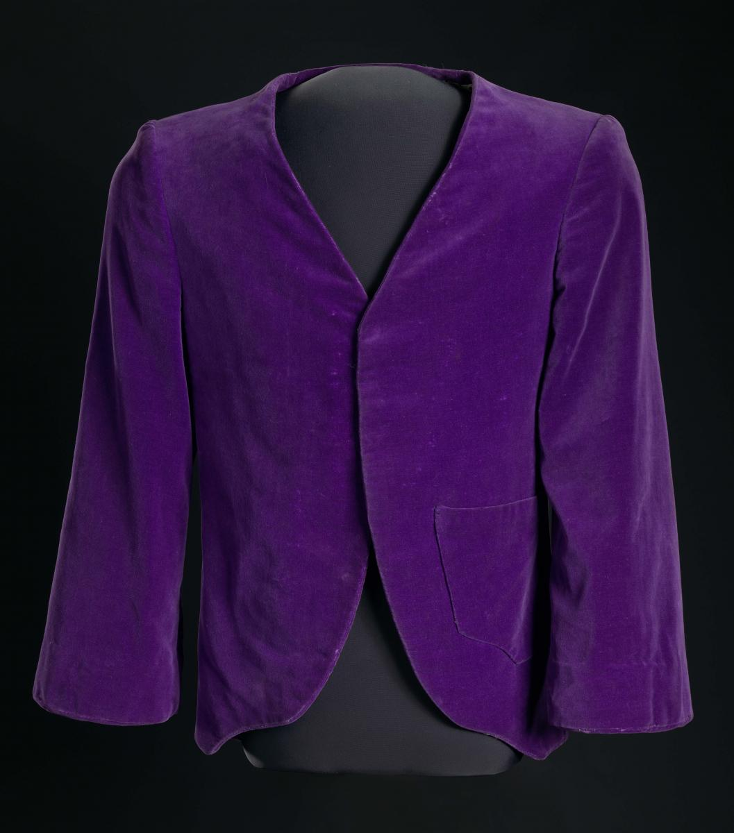 Jacket made by Joe Emsley and worn by Miles Davis, 1960s, Collection of the Smithsonian National Museum of African American History and Culture