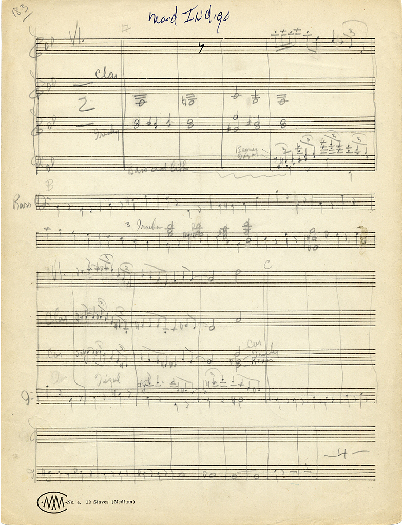 duke ellington at the smithsonian smithsonian music duke ellington manuscript mood indigo jpg