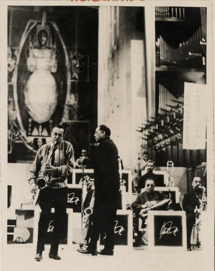 Photograph from one of Ellington's Sacred Concerts. Duke Ellington Collection, Archives Center, National Museum of American History