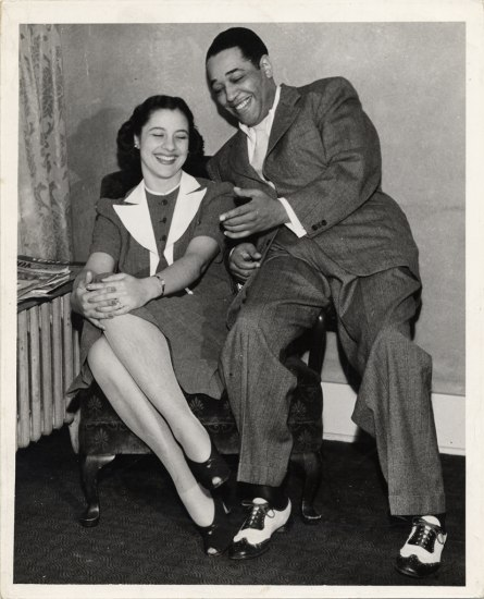 Evie with Duke Ellington. Duke Ellington Collection, Archives Center, National Museum of American History.