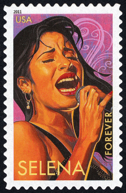 Selena Forever Stamp, Latin Music Legends series, UPSP, National Postal Museum