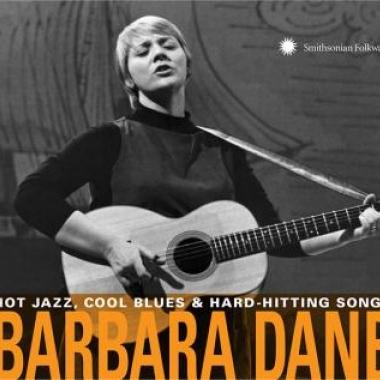 Album art, Hot Jazz, Cool Blues & Hard-Hitting Songs, Barbara Dane, 2018 Smithsonian Folkways Recordings