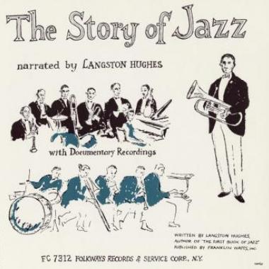 Album art, The Story of Jazz, Langston Hughes, 2004 Smithsonian Folkways Recordings / 1954 Folkways Records