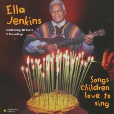 Album art, Songs Children Love to Sing, Ella Jenkins, 1996 Smithsonian Folkways Recordings