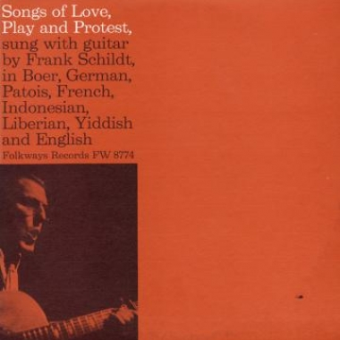 Album art, Songs of Love, Play and Protest, Frank Schildt, 2004 Smithsonian Folkways Recordings / 1960 Folkways Records