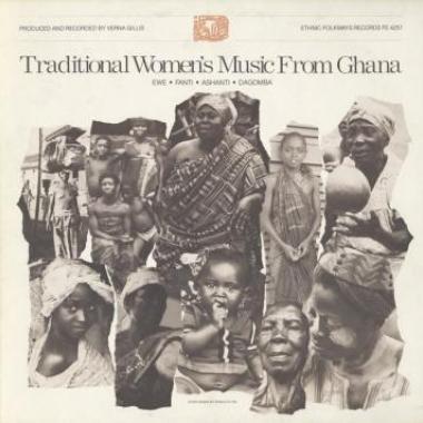 Album art, Traditional Women's Music from Ghana: Ewe, Fanti, Ashanti, and Dagomba, Various artists, 2004 Smithsonian Folkways Recordings / 1981 Folkways Records
