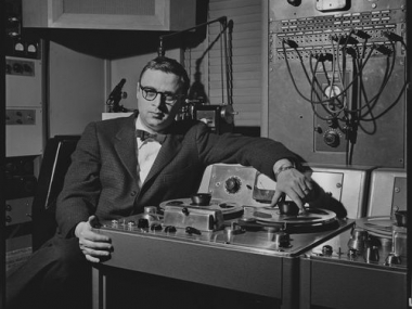 Rudy Van Gelder with recording equipment