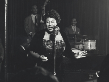 Ella Fitzgerald in 1949. Photograph by Herman Leonard. Herman Leonard Collection, Archives Center, National Museum of American History.