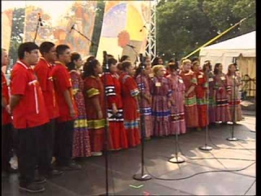 """The National Cherokee Youth Choir performs """"Orphan Child"""""""