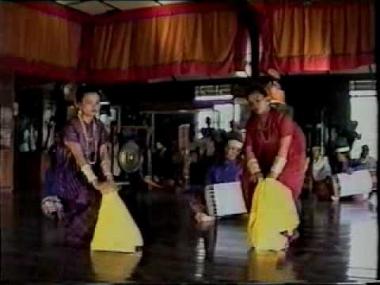 Performance of a Pakarena, an Indonesian Court Dance