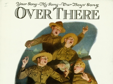 Over There Our Boys' Song sheet music, 1918