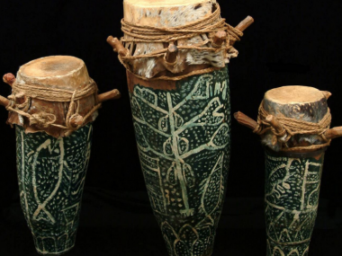 """Vodoun """"manman"""" drum in the collections of National Museum of Natural History, Smithsonian Institution"""