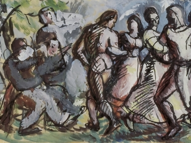 Fiddlers and dancers