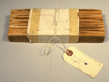 Acoustic Teaching Apparatus (Dropping Sticks), made by Rudolph Koenig, 1858-1902, in the collection of the National Museum of American History, courtesy of Worcester Polytechnic Institute
