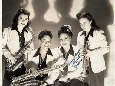 Four members of the Sweethearts of Rhythm, International Sweethearts of Rhythm Collection, Archives Center, National Museum of American History.