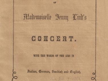 Lind concert program