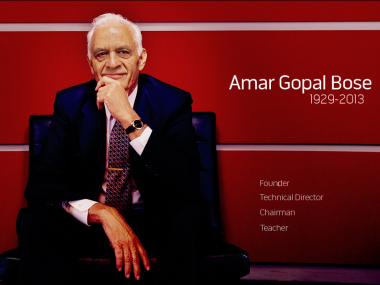 Amar Gopal Bose, Photo from the Bose Corporation