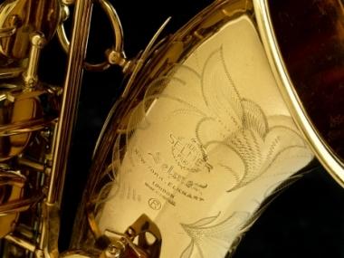 John Coltrane's Selmer Mark VI tenor saxophone (Photo by Hugh Talman, Smithsonian)