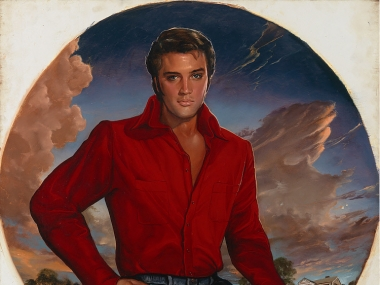 Ralph Wolfe Cowan, portrait of Elvis Aron Presley, 1976-1988, National Portrait Gallery, Smithsonian Institution; gift of R.W. Cowan