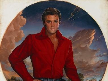 Ralph Wolfe Cowan, portrait of Elvis Aron Presley, 1976-1988, National Portrait Gallery, Smithsonian Institution; gift of R.W. Cowan