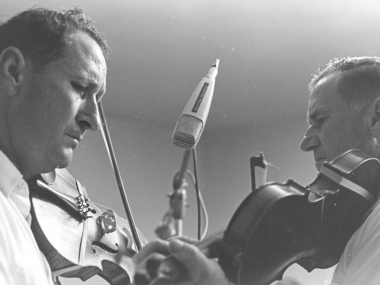 Dewey and Will Balfa in the Studio, courtesy of the Ralph Rinzler Archive, Center for Folklife and Cultural Heritage, Smithsonian Insitution