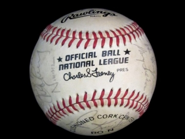 Baseball, signed by the 1984 San Francisco Giants, collected by Ella Fitzgerald, National Museum of American History, Kenneth E. Behring Center