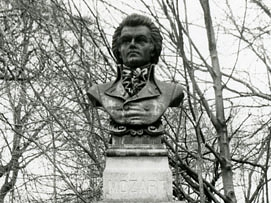 Statue with bust of Mozart, 1897, Augustus Max Johannes Mueller, New York, photo from Art Inventories Catalog, Smithsonian American Art Museums