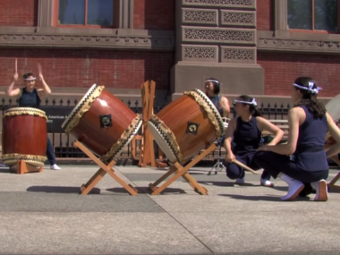 Nen Daiko, taiko ensemble, at the Renwick Gallery, May 2010