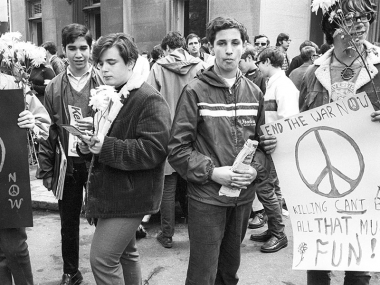 Cover Image, Peace Songs of the 1960s, Photo of War Protesters