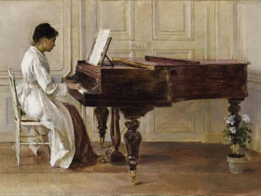 Theodore Robinson, At the Piano, 1887, oil on canvas, Smithsonian American Art Museum, Gift of John Gellatly, 1929.6.90