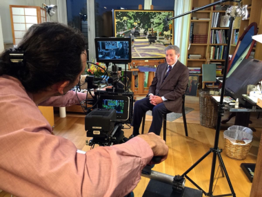 Behind the scenes during the production of RUMBLE, Rezolution Pictures films an interview with singer Tony Bennett at his studio in New York.