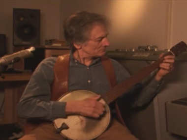 "Mike Seeger, still from video Mike Seeger performs ""Walking Boss"" in the Smithsonian Folkways Studio, Smithsonian Folkways"