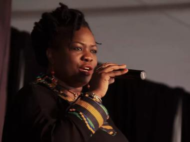 Screenshot of video, Iddi Achieng' at 'Divas Night: Homage to Kenyan Women in Music'