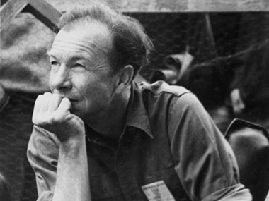 Pete Seeger listens during a 1964 Newport Folk Festival workshop, photo by Diana Davies, Courtesy of the Ralph Rinzler Folklife Archive and Collections.