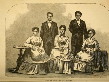 The Jubilee Singers, circa 1873, from Pike's The Jubilee Singers and their campaign for twenty thousand dollars.