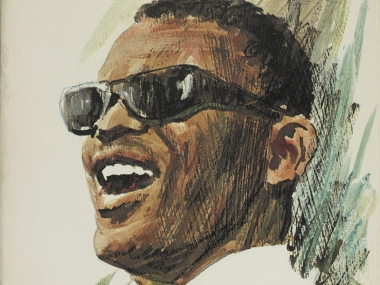 Painting of Ray Charles