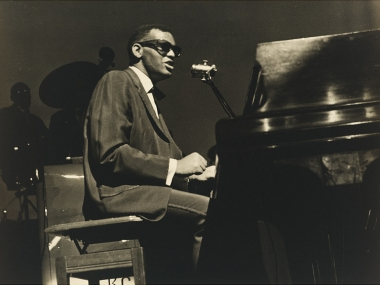 Ray Charles at the piano