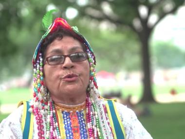 Still from video, Sarawja Dance, Smithsonian Folklife Festival