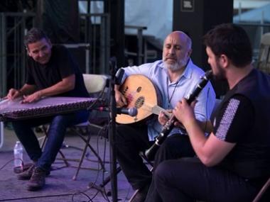 Secret Trio performs