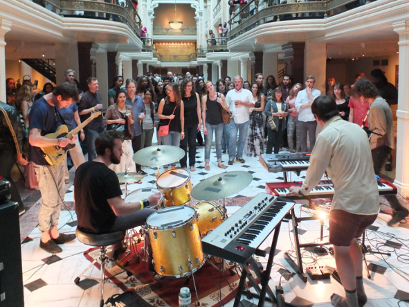 band playing in the Luce Center at SAAM